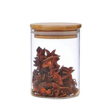 Wholesale Handmade Food Storage Container Kitchen <strong>Jar</strong> Set <strong>Glass</strong> Jam <strong>Jar</strong> Borosilicate <strong>Glass</strong> <strong>Jar</strong> with Bamboo Lid for Coffee Bean