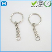 Creative Blank Keyrings Split Key Ring Chain Rings Craft