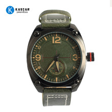Miyota Battery genuine leather wrist sports military Gun man watch
