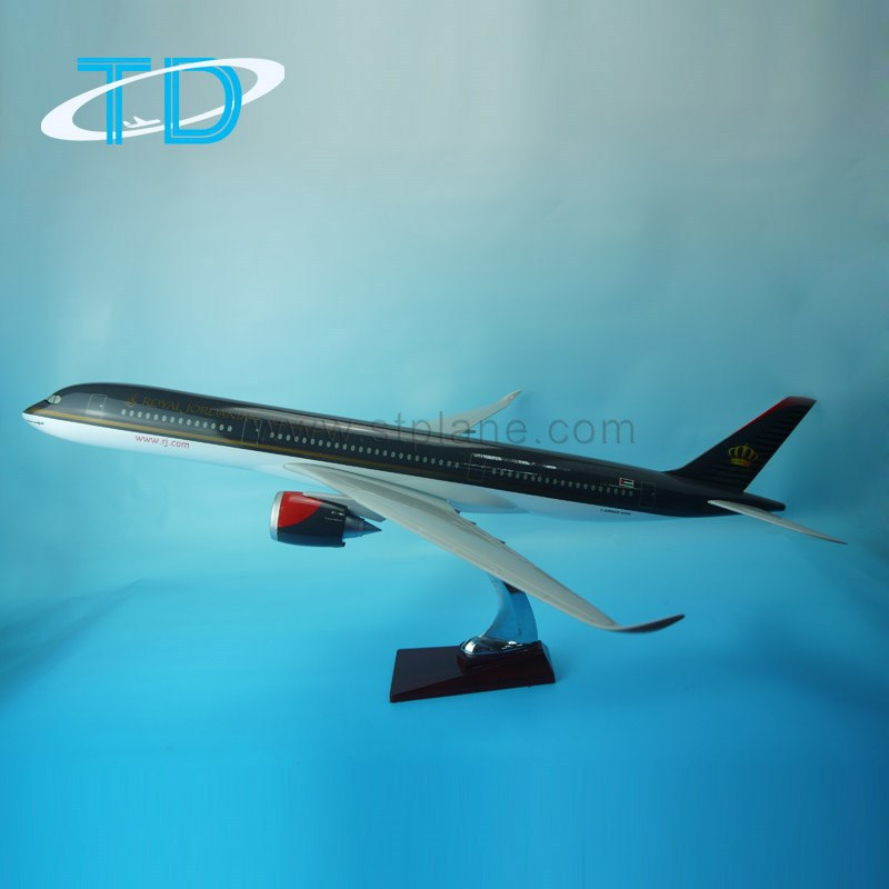 New plane model A350 Royal Jordanian Airlines arts and crafts