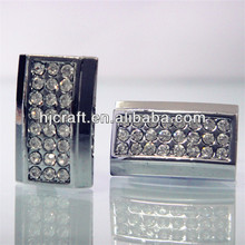 fashion cufflink Sparkling artificial diamond decoration
