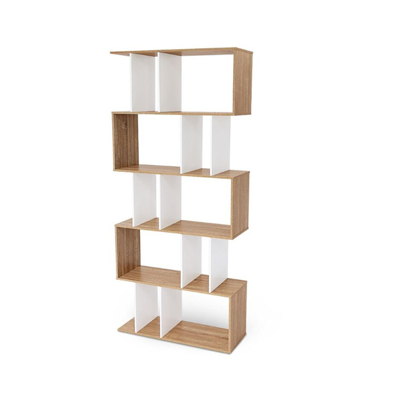 Simple 5 Tier Display Shelf Storage Bookshelf Bookcase