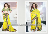 New Pakistani Ladies Sari 2013 Fashion designer Sarees For Women For Party 2013