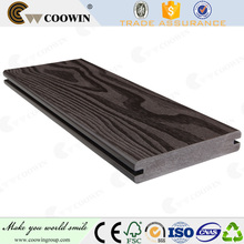 Outdoor water proof wood grain white wpc decking