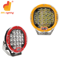 Factory price 63w great white auto led work light,led driving lights round 7 inch for off road