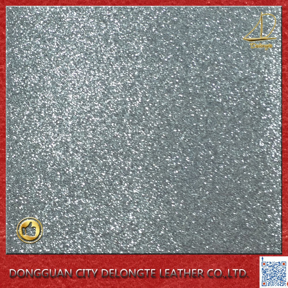 pu glitter leather raw materials to making shoes, handbags