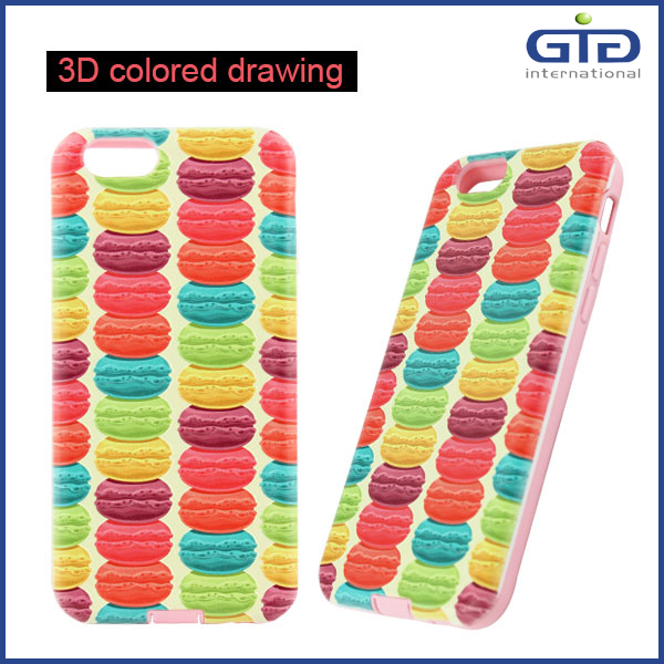 Promotion Product 3D Carving PC TPU Case for iPhone 6 4.7""