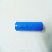 ICR18650 7.4v 18650 2200mah rechargeable Li-ion lithium ion battery for torch lighting power tool