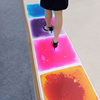 decorative children pvc flooring mat liquid color interactive indoor kids playground flooring