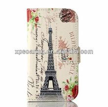 Wallet leather case for Galaxy Fresh S7390, Stand leather case for Samsung Galaxy Fresh