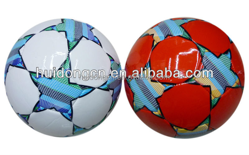High quality Durable Waterproof size5 customized Foam PVC Machine Sewing football ball/Soccer ball indoor and outdoor in bulk