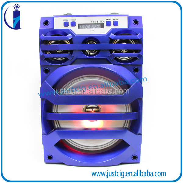 Brand new colorful UK-81 factory 2.0 active professional usb sd fm subwoofer led dj sound speaker active box