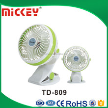 Factory Price 4inches 12V DC Eemergency Mini USB Clip Fan with Car charger TD-809