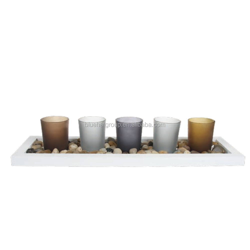 Fashion customized multicolored tealight glass candle holder