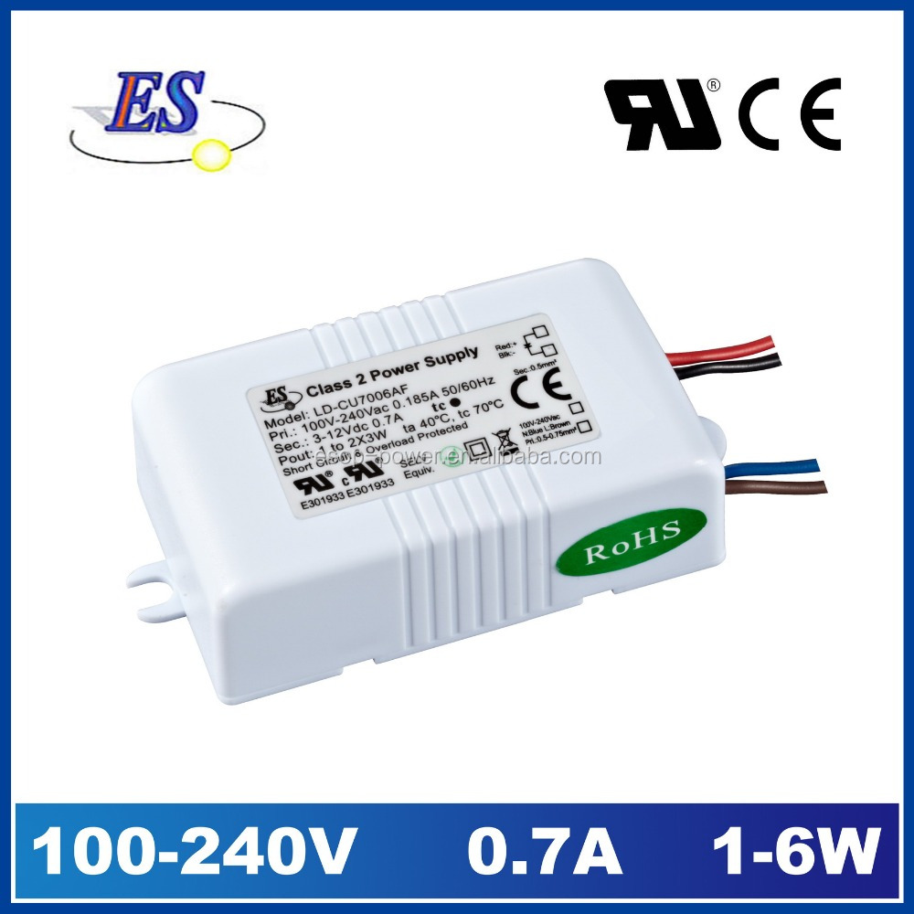 690mA 12V 6W 240VAC-DC Constant Current LED Driver, led power supply