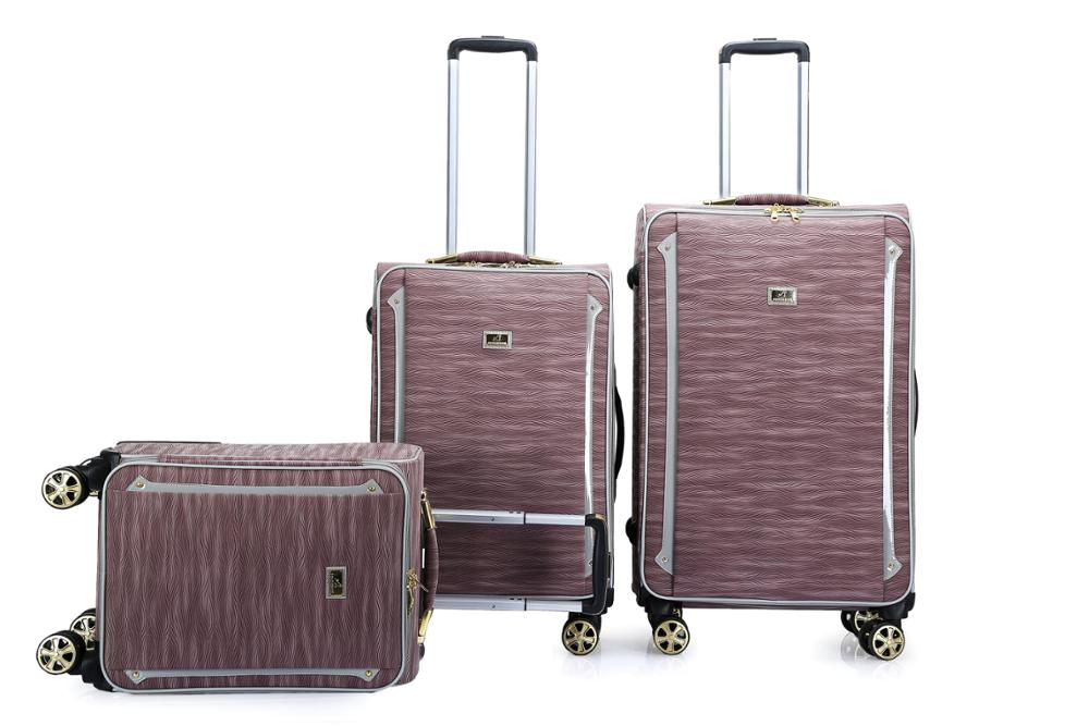 PU leather business trolley luggage bags