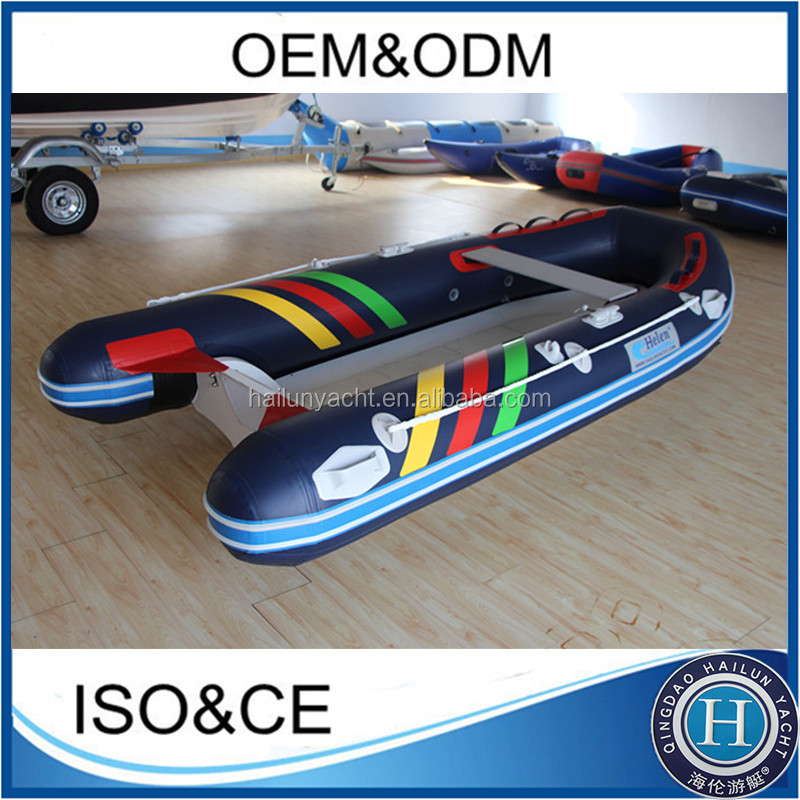 2016 inflatable fishing boats fiber with pvc tube material for sale