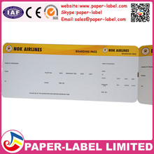 boarding pass /thermal boarding pass paper/ATB ticket-Fan-fold Boarding Pass