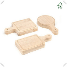 Custom Cheap Fast Food Bamboo Wooden Serving Pizza Wood Tray