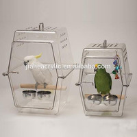 manufacturing top quality and fancy acrylic decorative bird cage plexiglass pet cage