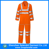 Hi vis safe work professional fastener overalls for men