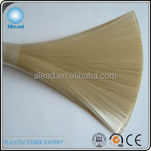 Diameter 0.25mm PET hollow filament colors customized including bristle white, golden, sable, yellow colors