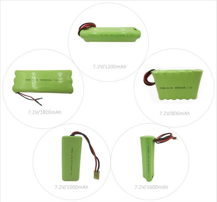 China manufacturer AA 1600mah 12v rechargeable nimh battery pack