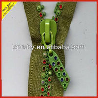 Wholesale High Quality Rhinestone zipper