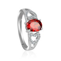 OUXI Design 925 Sterling Silver Gemstone Rings For Female