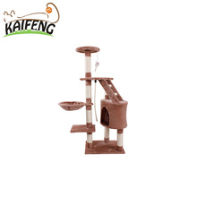 Cheap Factory Direct Cat Tree Sisal Cat Scratcher Post With Plush Toy