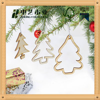 2015 unique design Wooden Christmas Decoration wooden crafts in laser-cutting engraving
