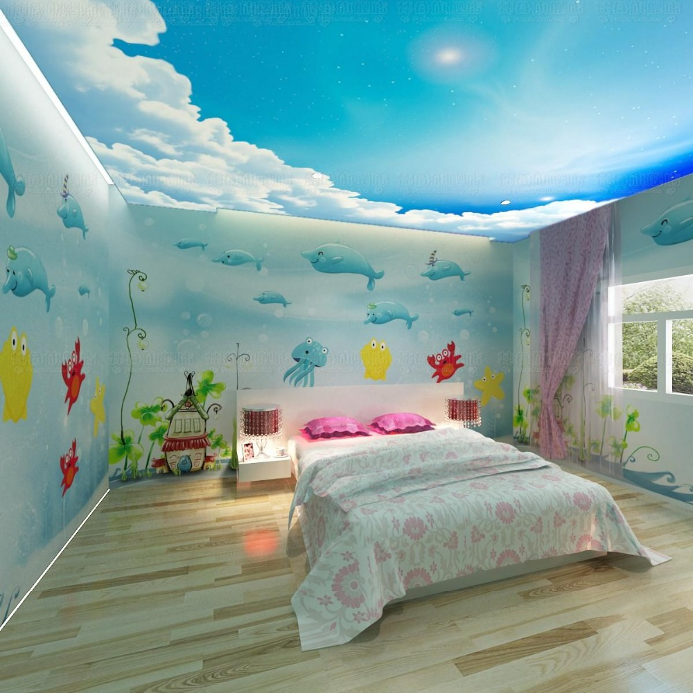 Eco-friendly High Quality Beautiful Wall Decor Vinyl Wallpaper For Kids Room