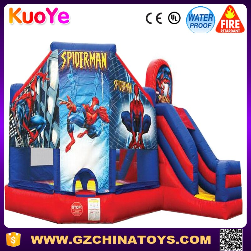 2017 hot sale superman theme inflatable bouncer castle for kids