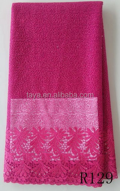 nigeria party net lace in fushia pink french lace for wedding