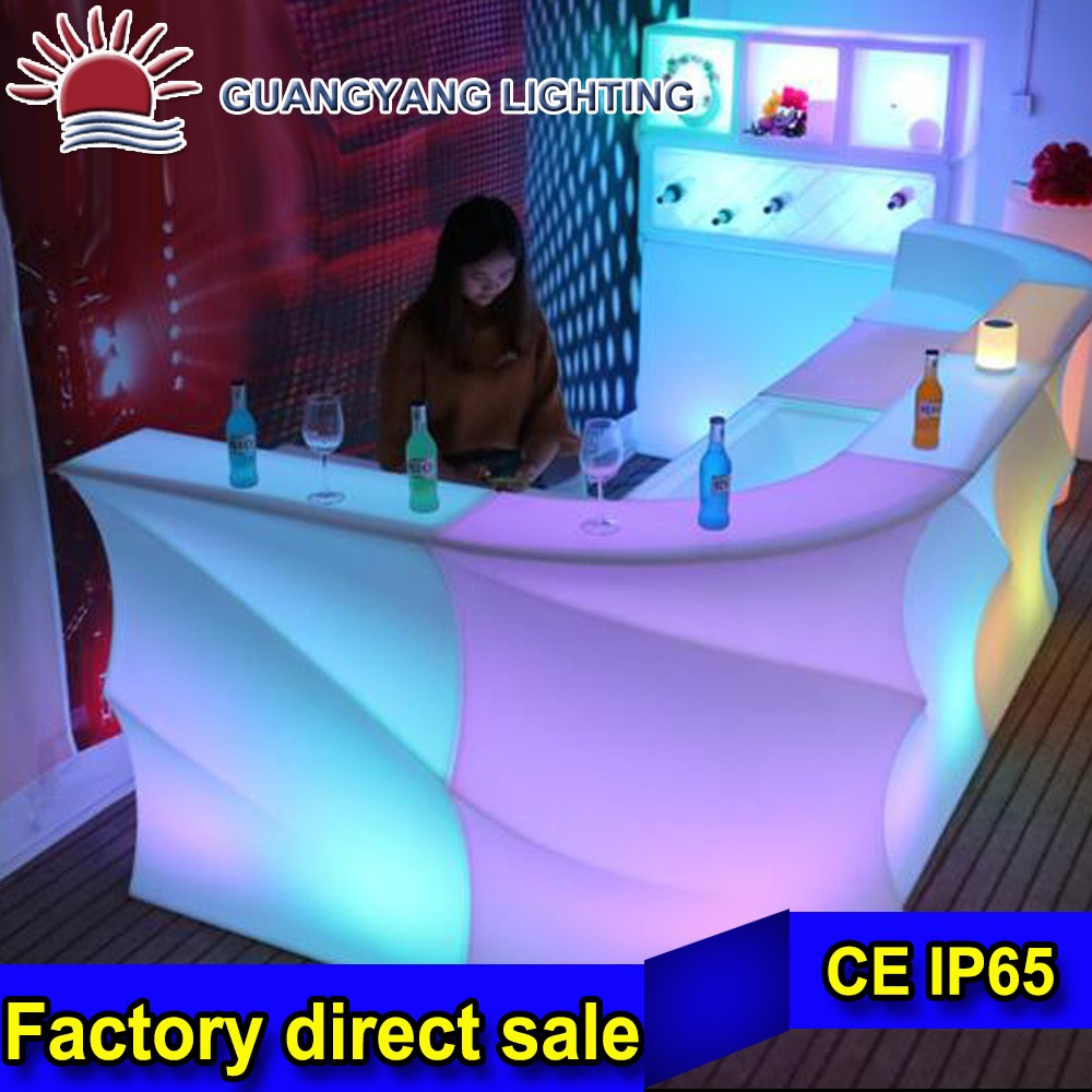 Bar furniture Color changeable LED Bar table with CE RoHS