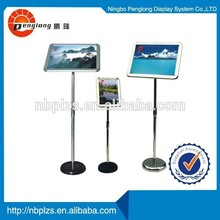 a3 a4 picture frame floor stand for hotel menu display holder