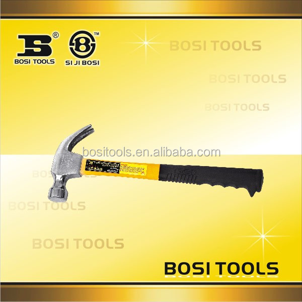 Fiberglass rubber handle china Claw Hammer for 0.25kg / 0.5kg
