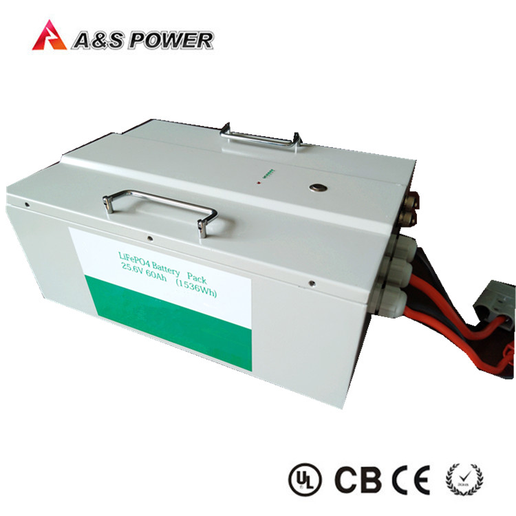 Deep cycle 25.6V 60Ah lifepo4 battery pack for storage and solar system