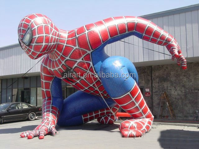 replicate inflatable spiderman mascot figure