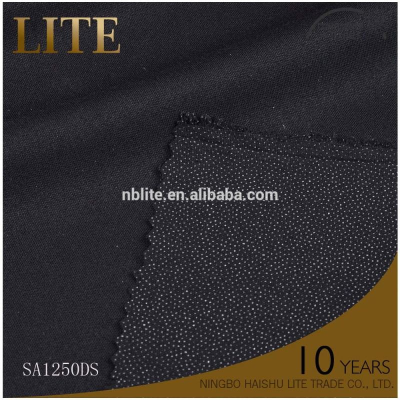 Professional mould design interfacing for garments warp kintted fusible interfacing
