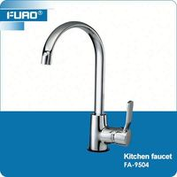 FUAO Attractive and durable antique brass kitchen taps