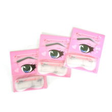 Small moq 24cards drawing Eye brow kit wholesale eyebrow stencils high quality hollow eyebrow card beauty makeup tool