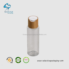 24mm plastic bottle caps PET plastic bottle with bamboo press cap