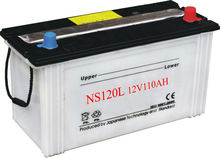 Japan Standard NS120L Cheap Dry Charged 12V 110AH Car Battery Wholesale