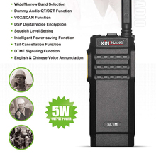 Xinchuang SL1M 5W Ultra-thin UHF Encrypted Walkie Talkie Handheld Digital Military Two Way Radio With Long Distance