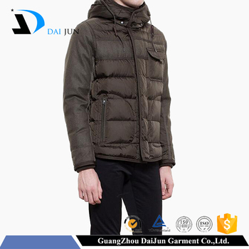 Daijun oem new design high quality fashion polyester men's snowboard cotton jackets & coats