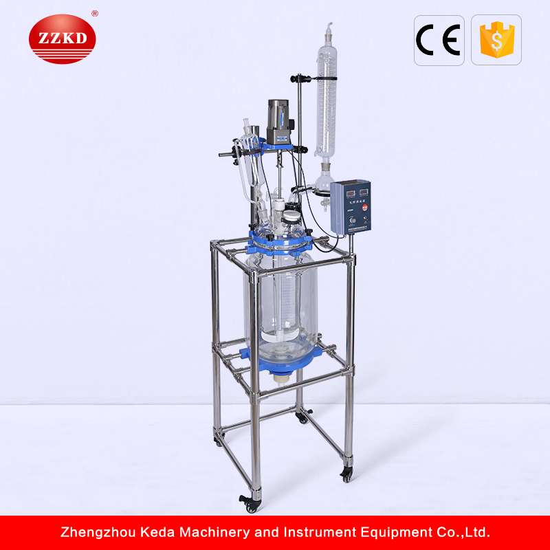 Jacketed Glass Photochemical Reactor