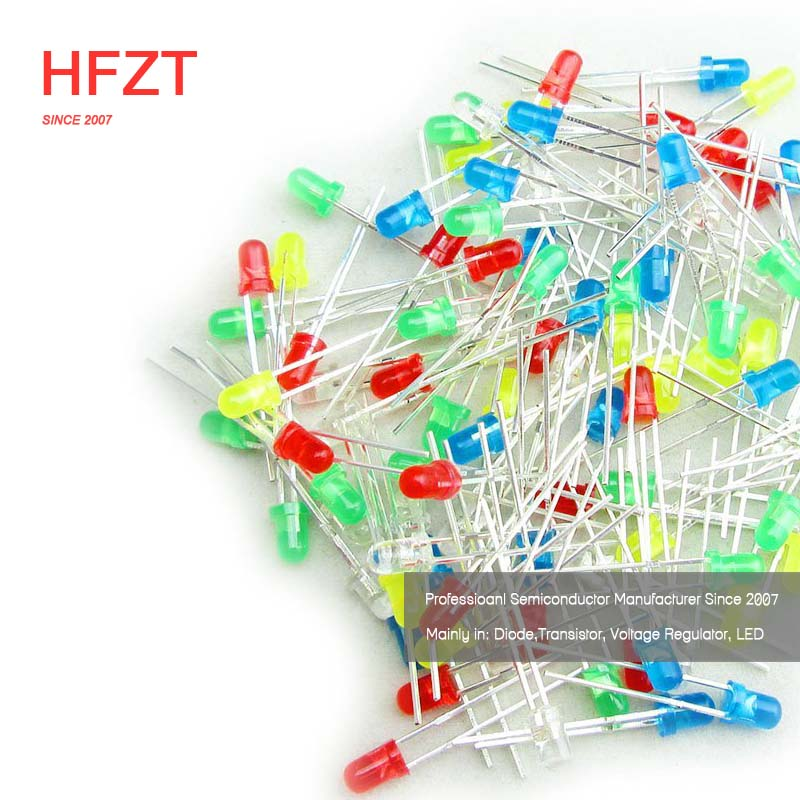 HFZT 3mm green F3 light emitting LED diode