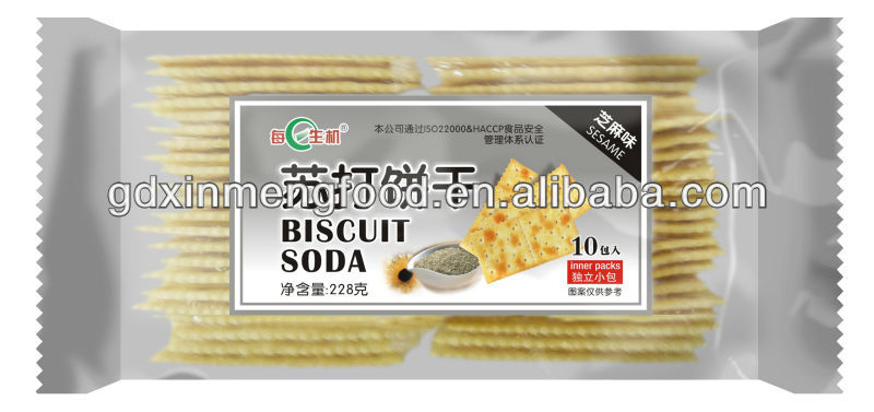 White Sesame Soda Cracker Biscuit