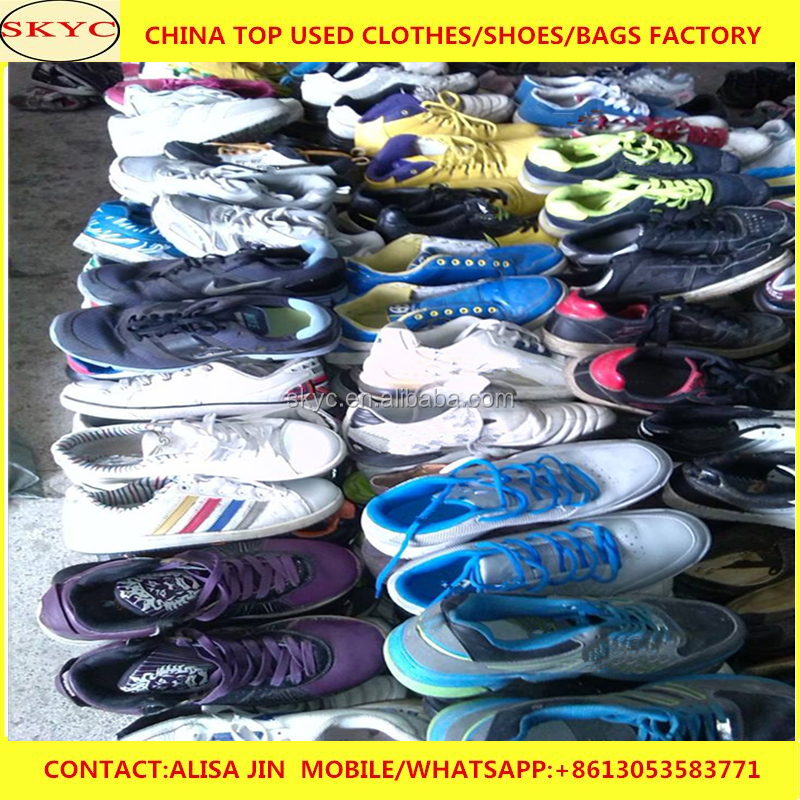 Guangzhou used athletic shoes for reseller no defective shoes for sale in 25kg sacks